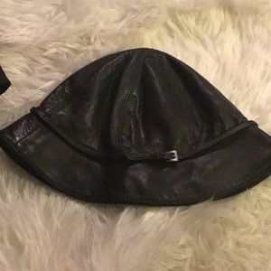 Authentic Prada leather hat